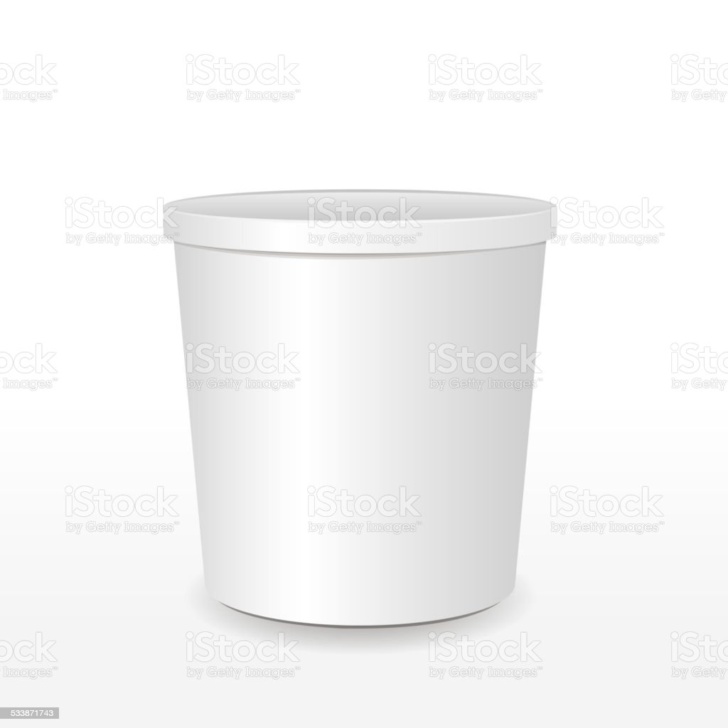 blank food container vector art illustration