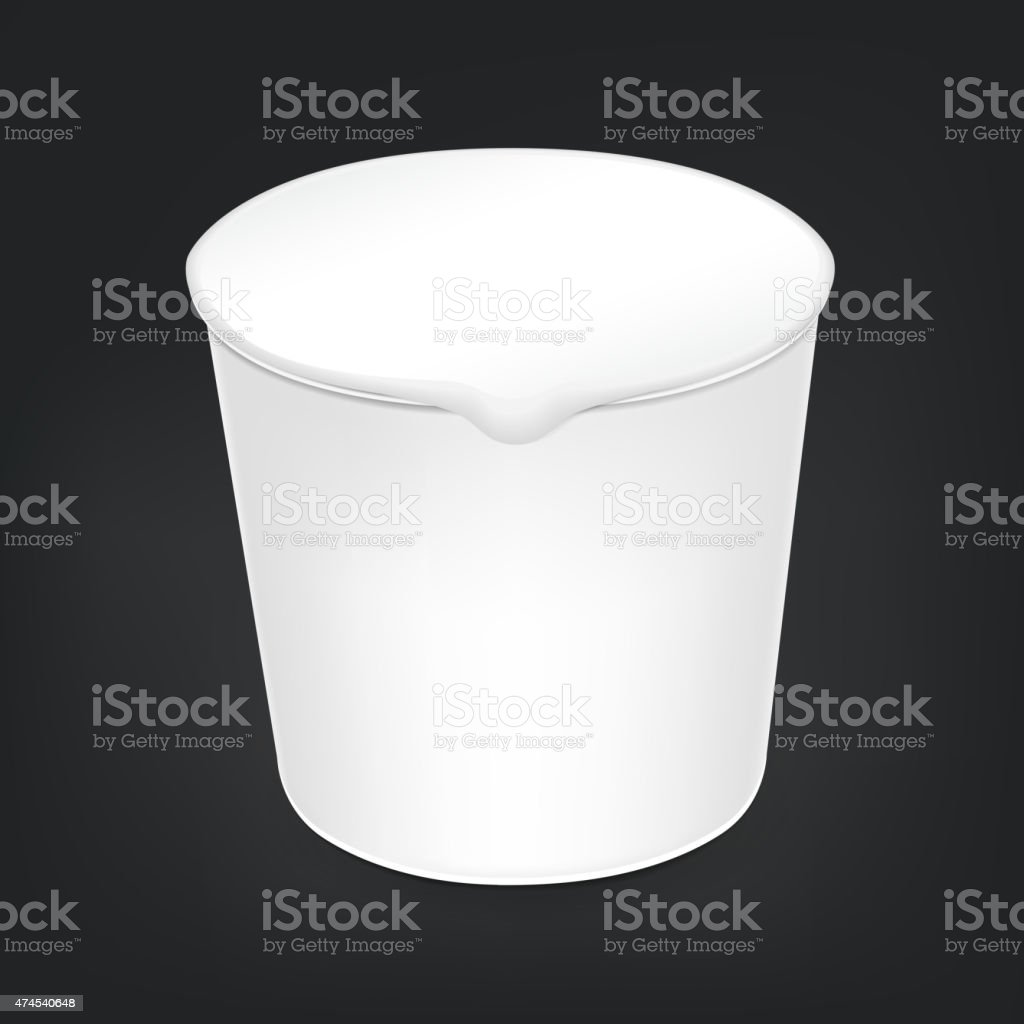 blank food cup package vector art illustration