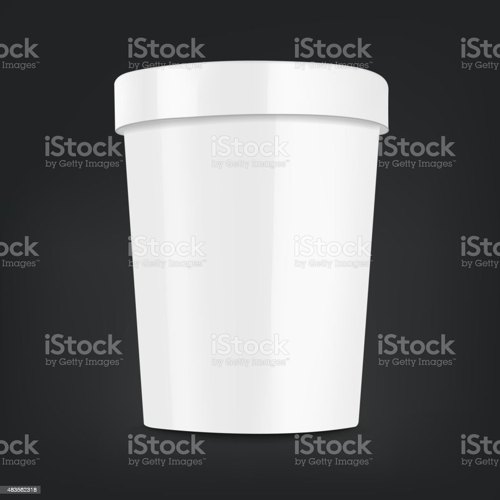 blank food plastic container vector art illustration