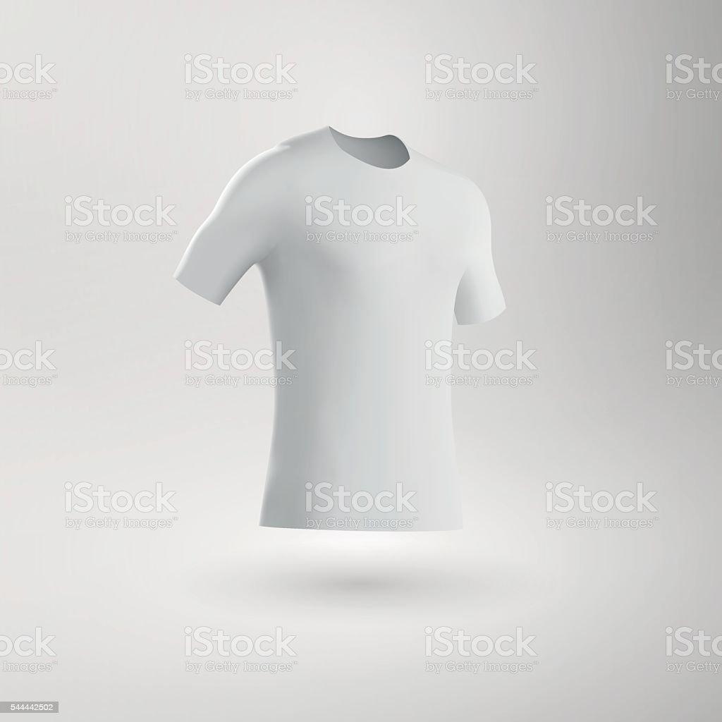 Blank Football Shirt / Soccer Shirt / Fitted T-Shirt Tee vector art illustration
