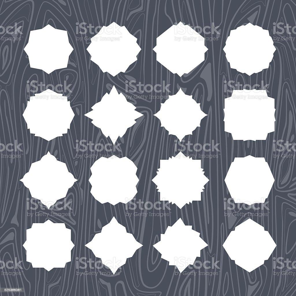 Blank frame and label set vector art illustration