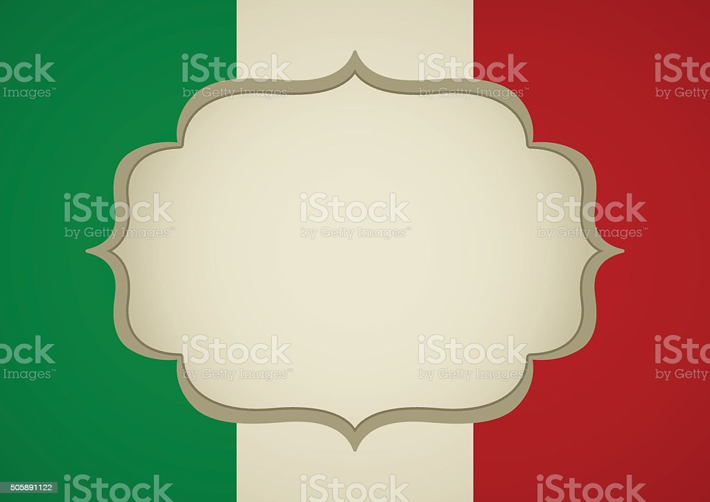 Blank Frame On Italy Insignia vector art illustration