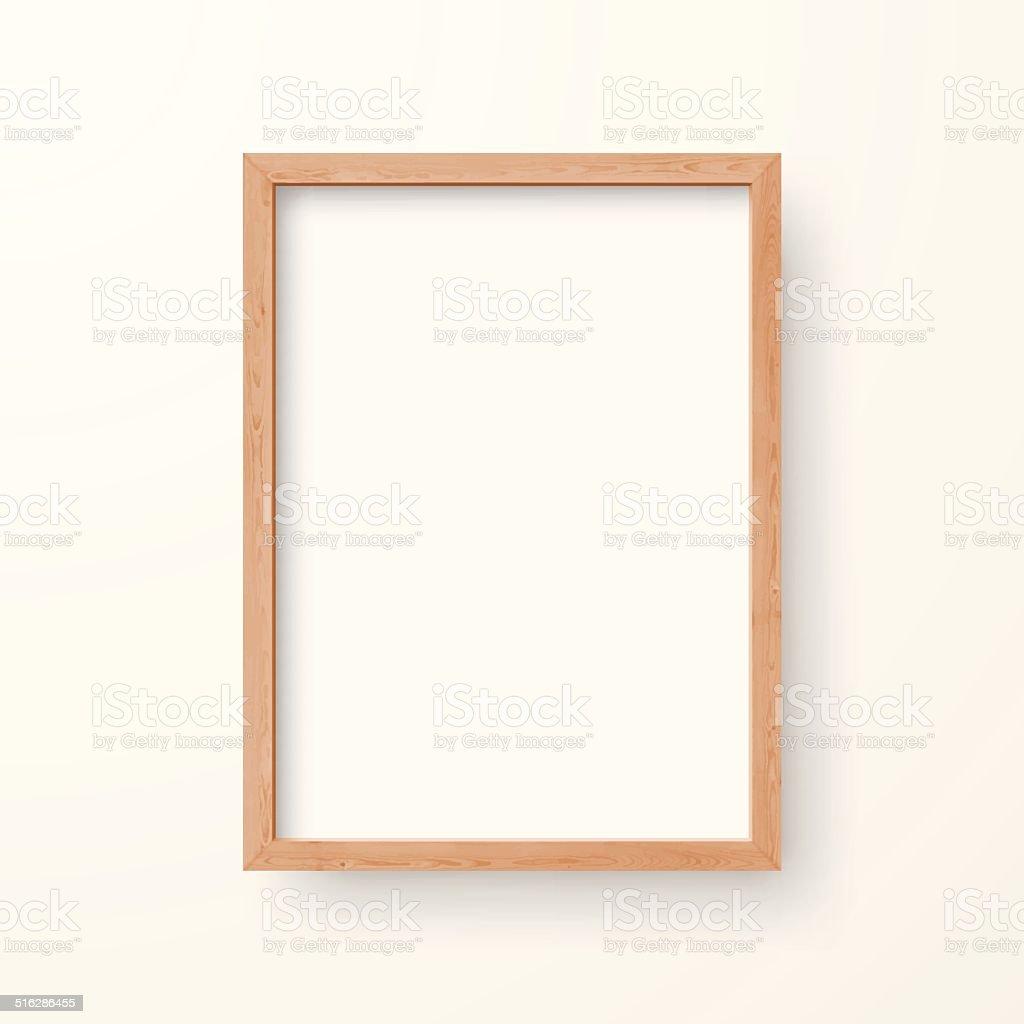 Blank Frame on White Background vector art illustration