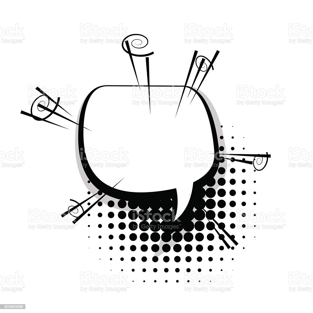 Blank fun template comic speech bubble vector art illustration