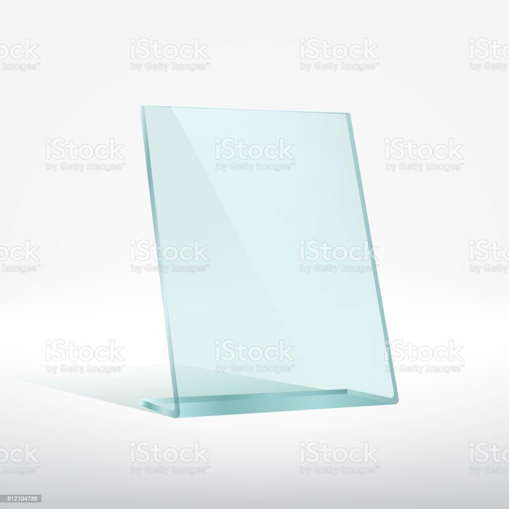 Blank glass award plate vector art illustration
