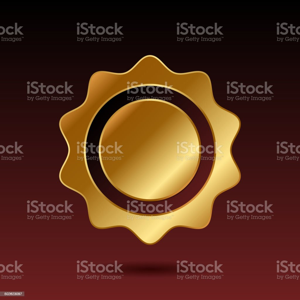 Blank Gold Label Template. Vector royalty-free stock vector art