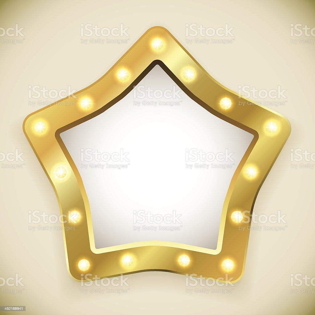 Blank golden star frame royalty-free stock vector art