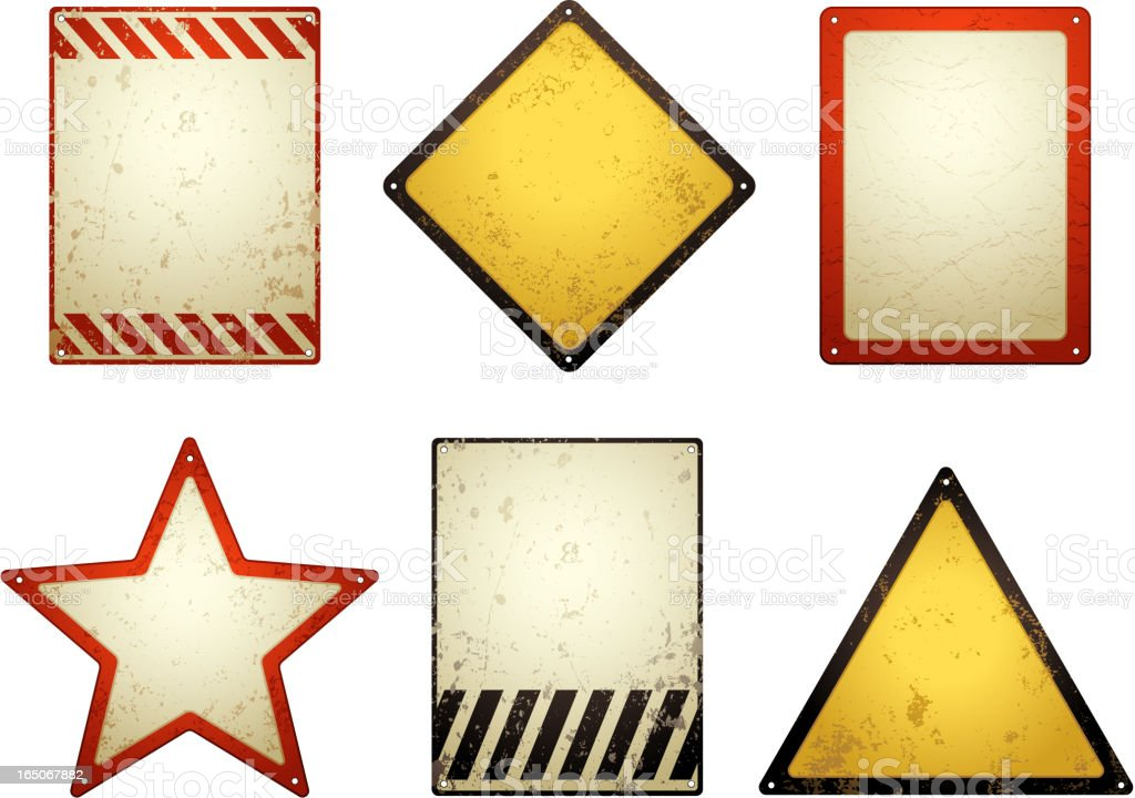 Blank grunge signs royalty-free stock vector art