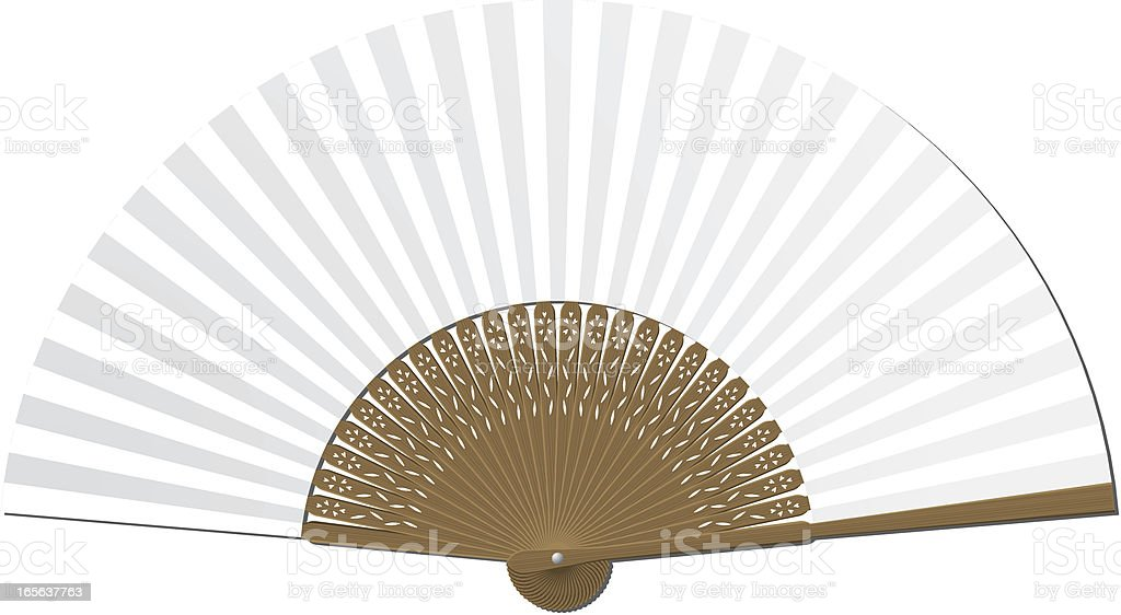 Blank handheld folding fan royalty-free stock vector art