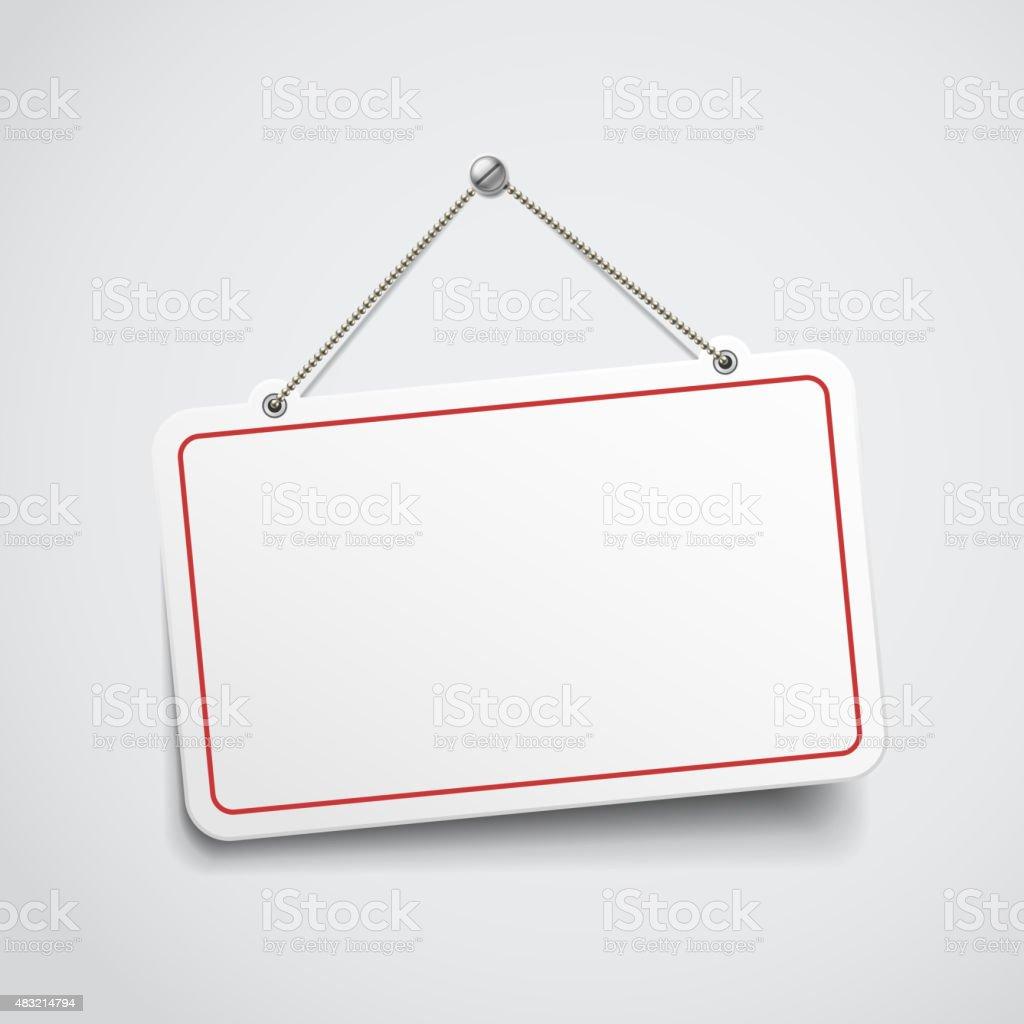 blank hanging sign vector art illustration