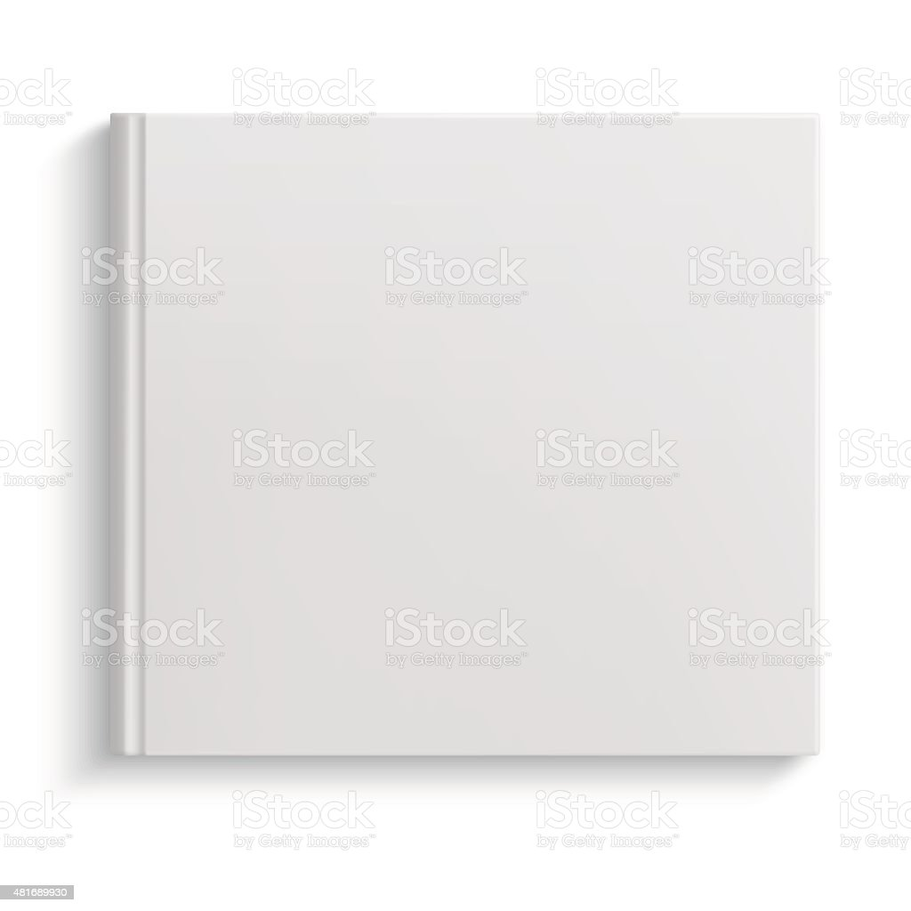 Blank hardcover album template vector art illustration