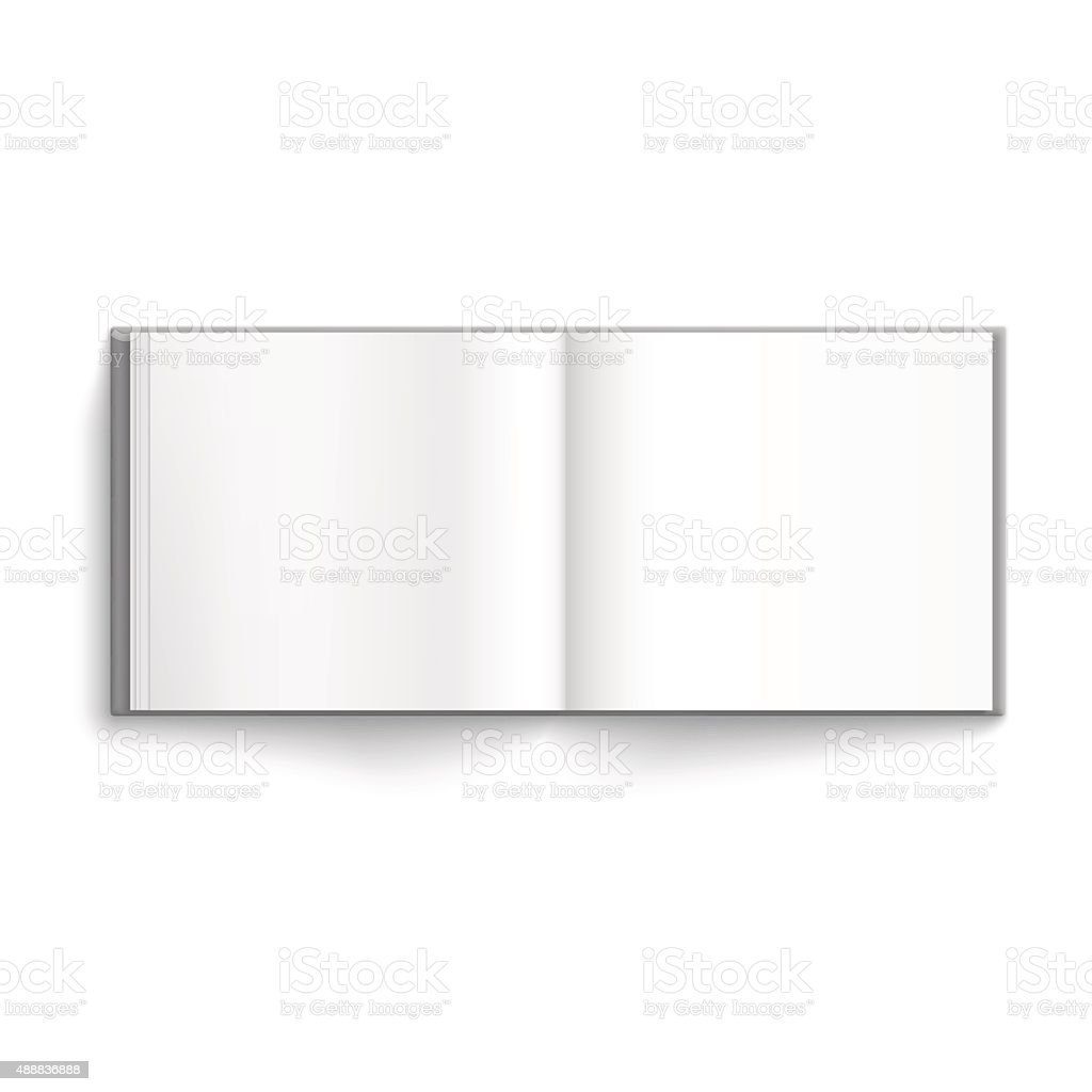 Blank hardcover album vector art illustration