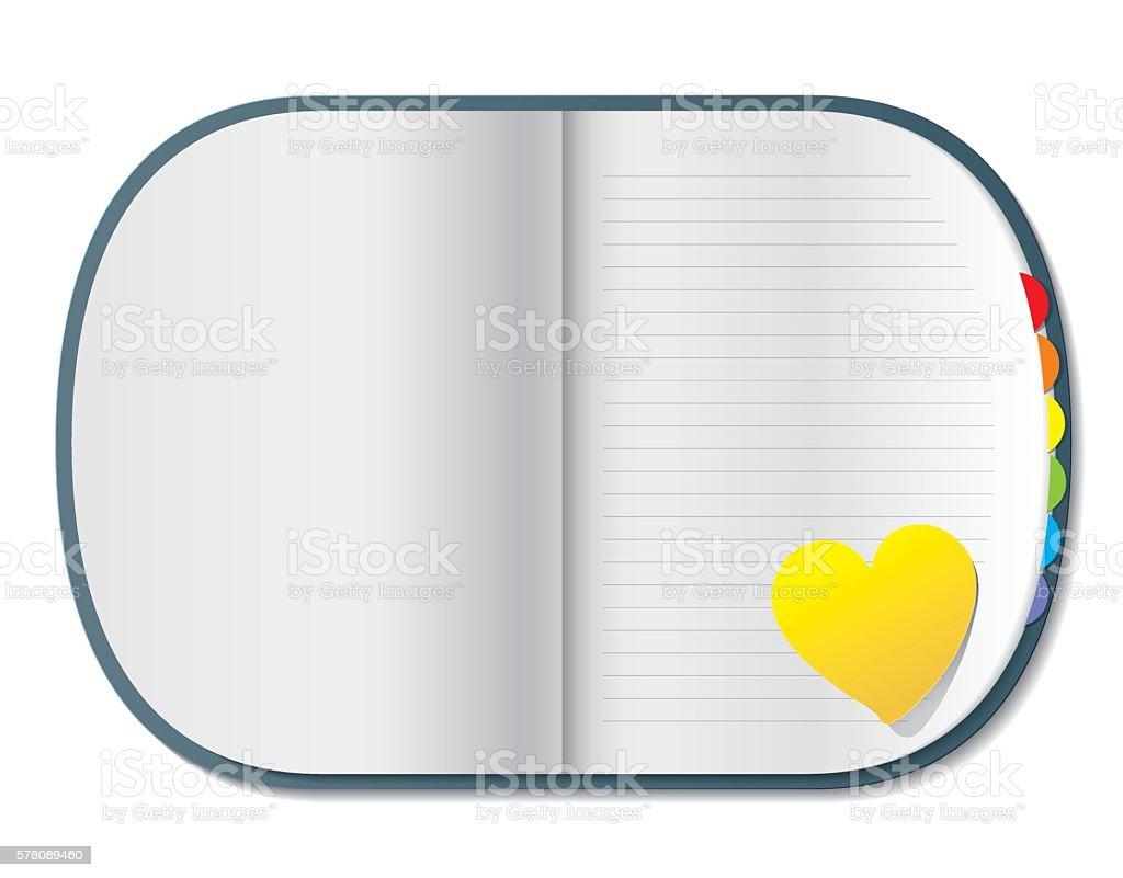 Blank isolated notepad vector - Illustration vector art illustration
