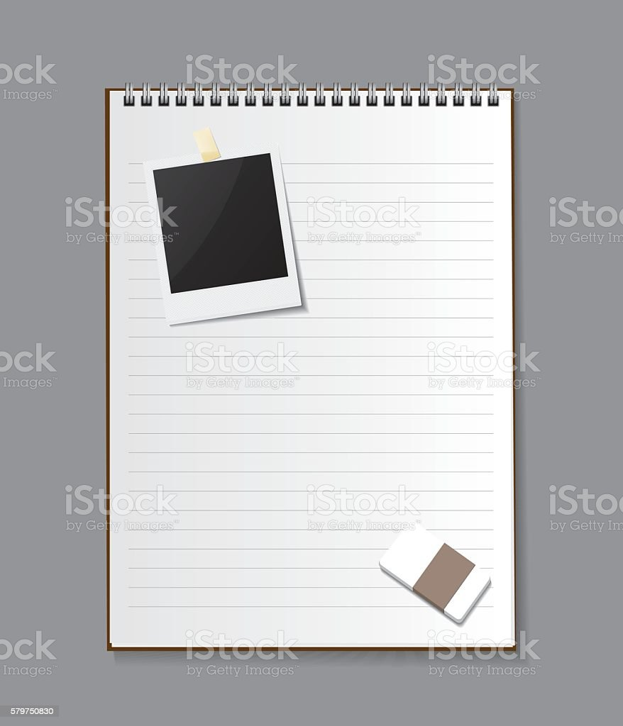 Blank isolated notepad vector - Illustration vector art illustration