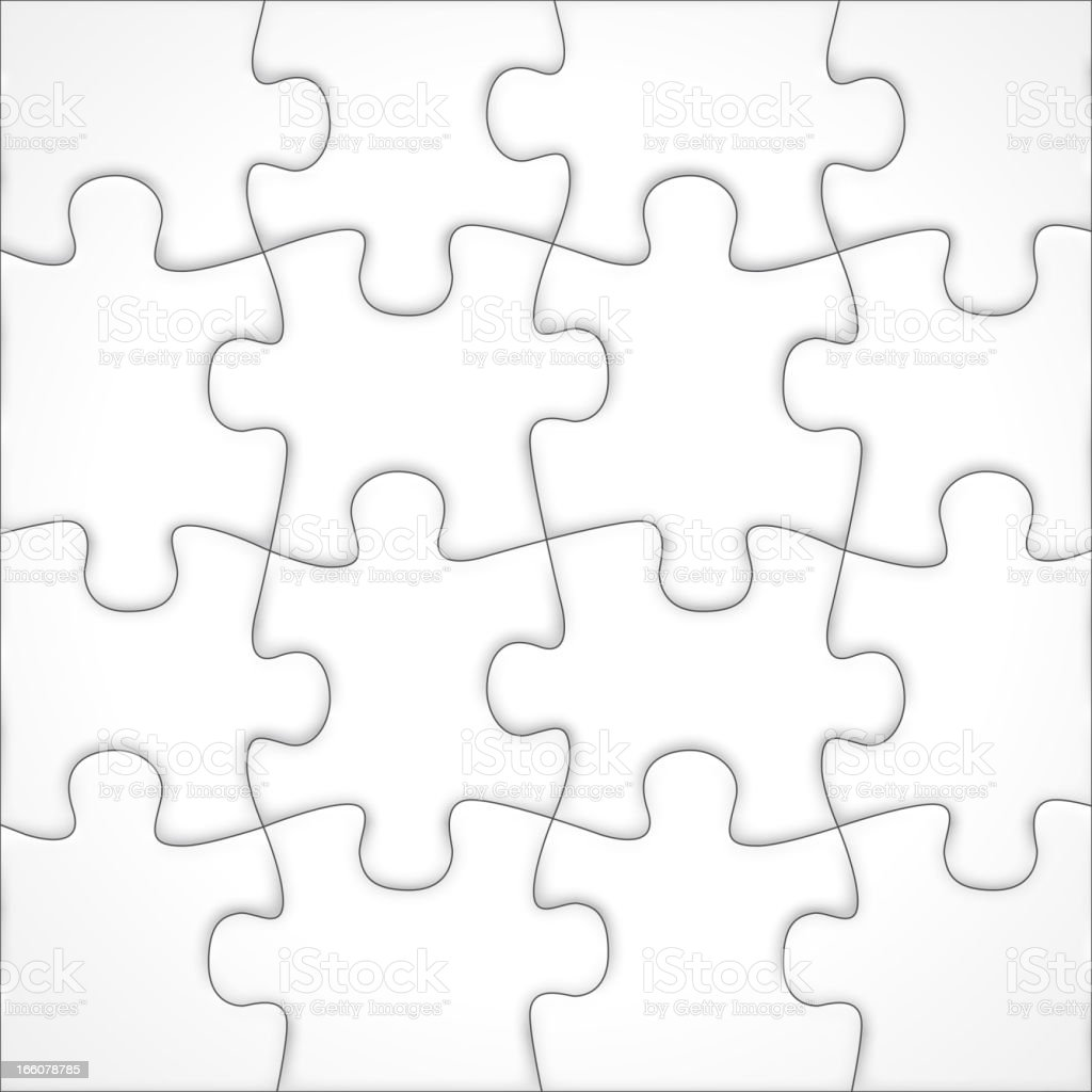 Blank jigsaw vector vector art illustration