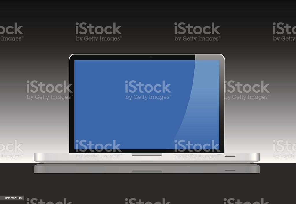 Blank Laptop royalty-free stock vector art