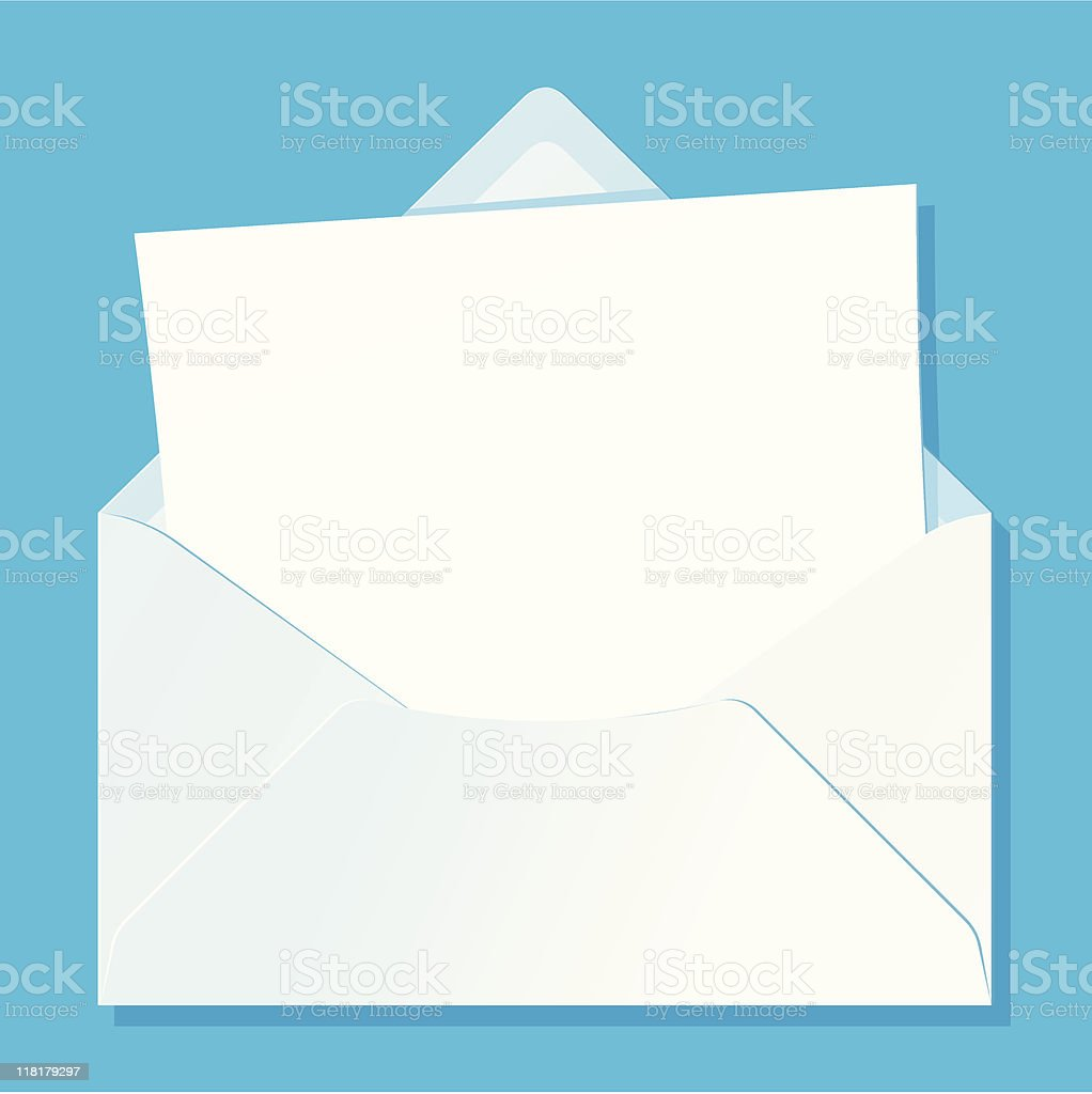 Blank letter in envelope royalty-free stock vector art