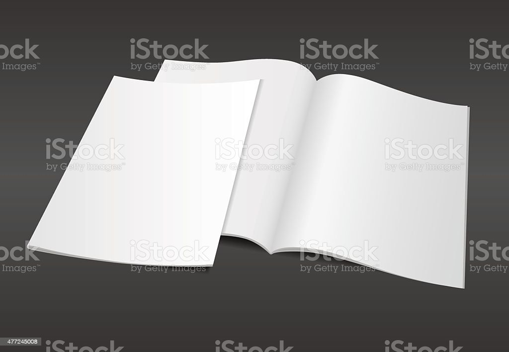 blank magazine illustration on dark background vector art illustration