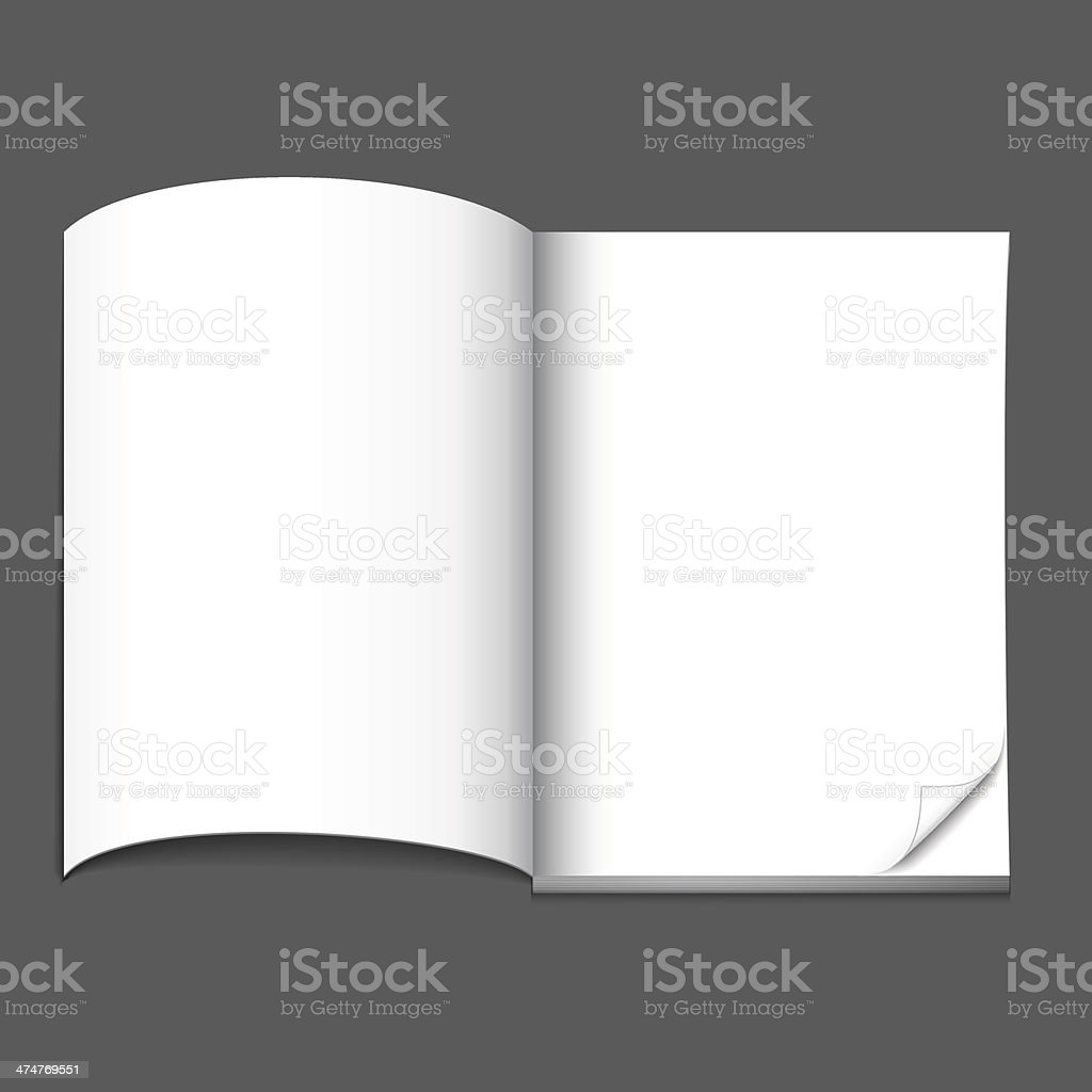 blank magazine page royalty-free stock vector art