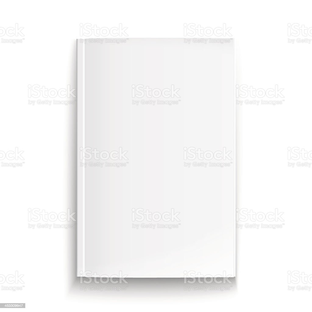 Blank magazine template with soft shadows. royalty-free stock vector art