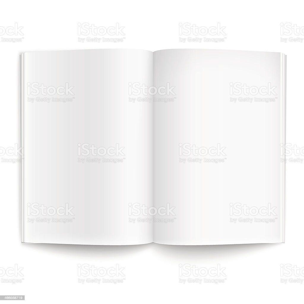 Blank magazine template with soft shadows. vector art illustration