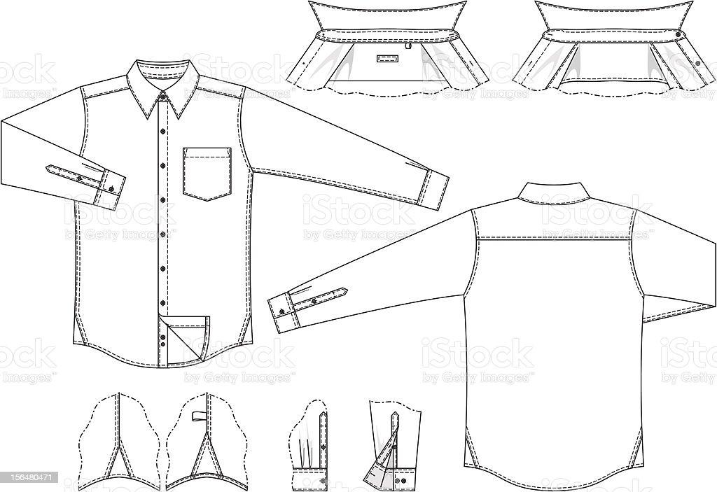 Blank male shirt royalty-free stock vector art