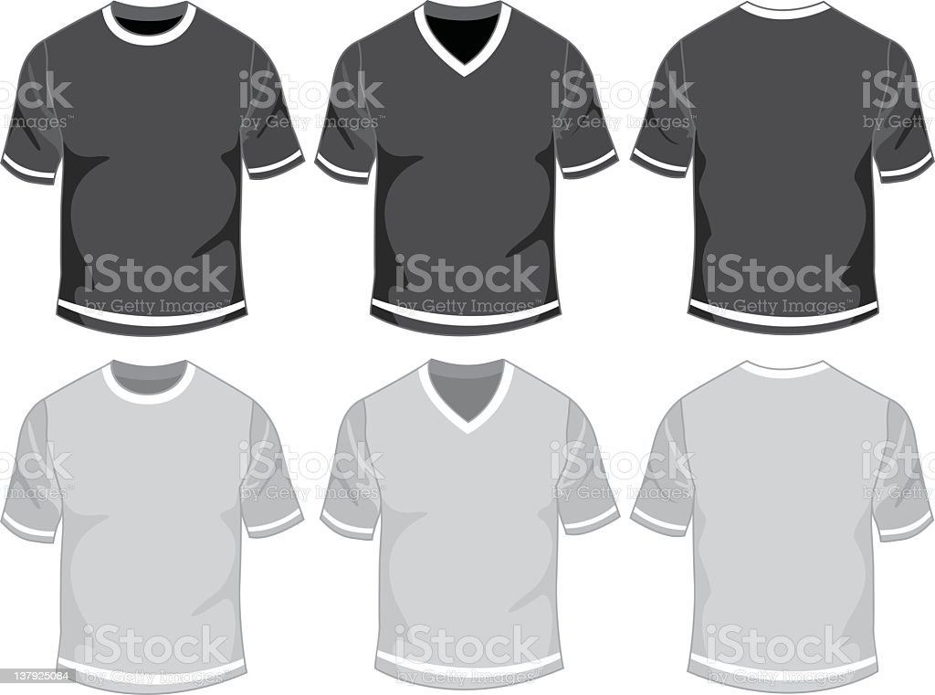 Blank male t-shirt royalty-free stock vector art