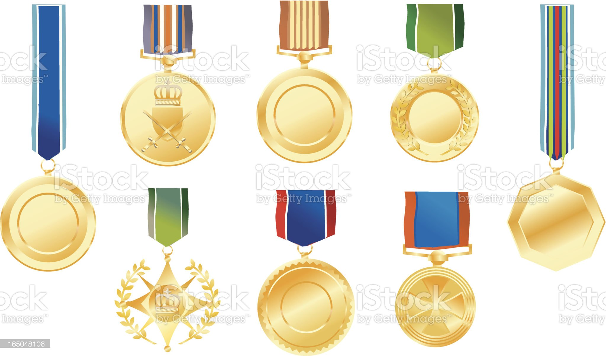 blank medals royalty-free stock vector art