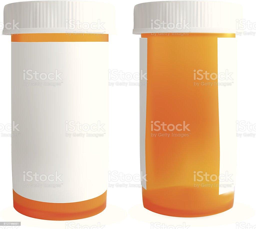 Blank Medicine Bottle - Vector vector art illustration