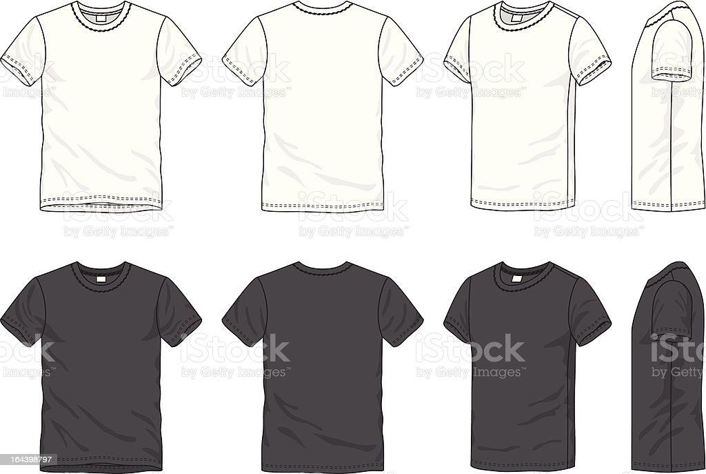 blank men's t-shirt vector art illustration