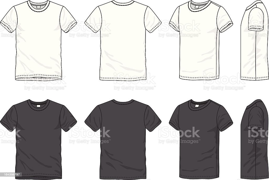 blank men's t-shirt vector art illustration