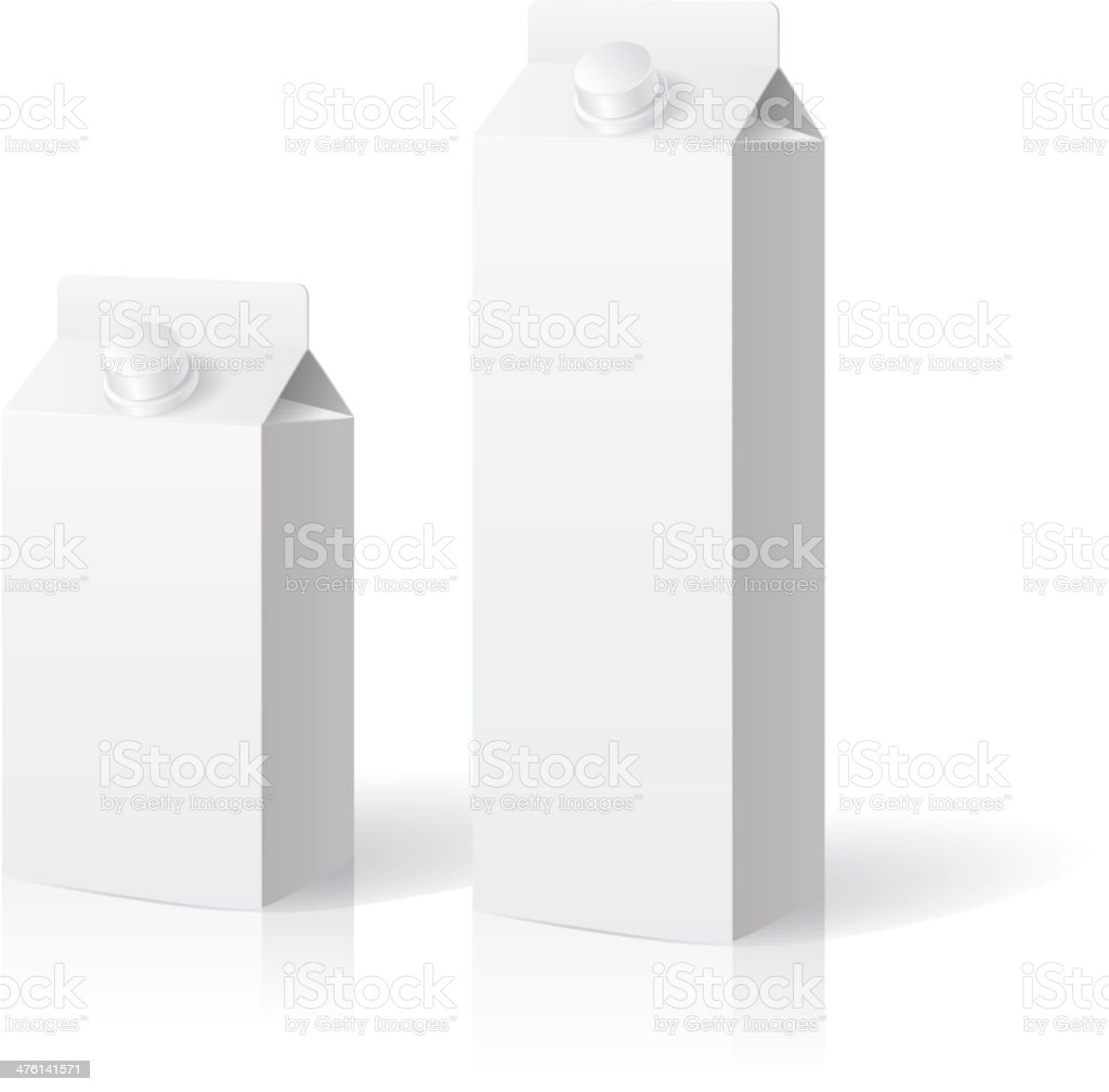 Blank milk box vector art illustration