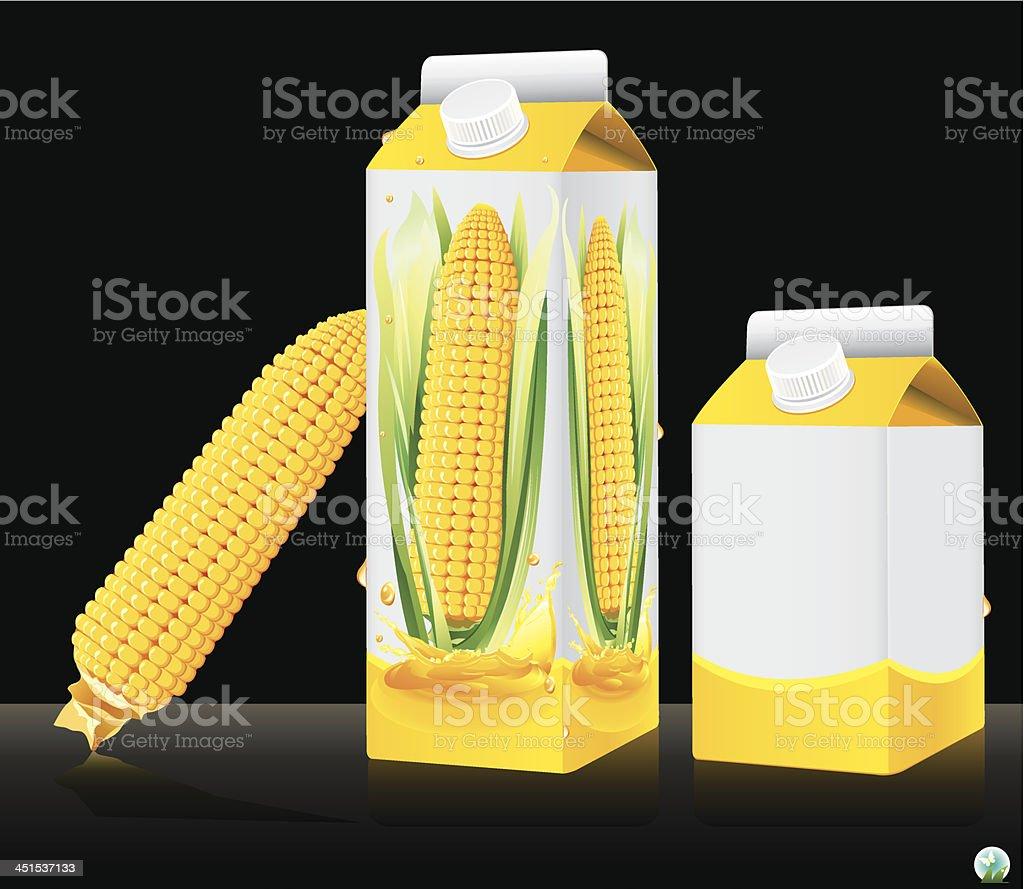 Blank milk or juice pack royalty-free stock vector art