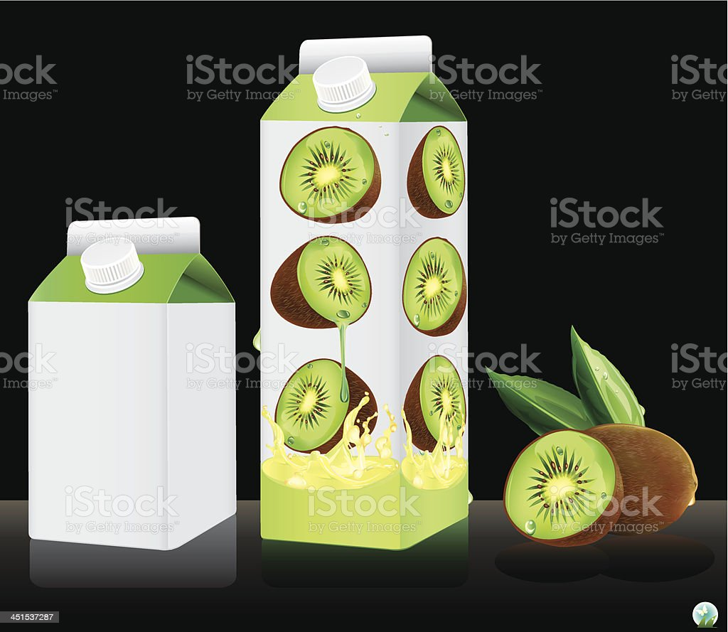 Blank milk or juice pack. royalty-free stock vector art