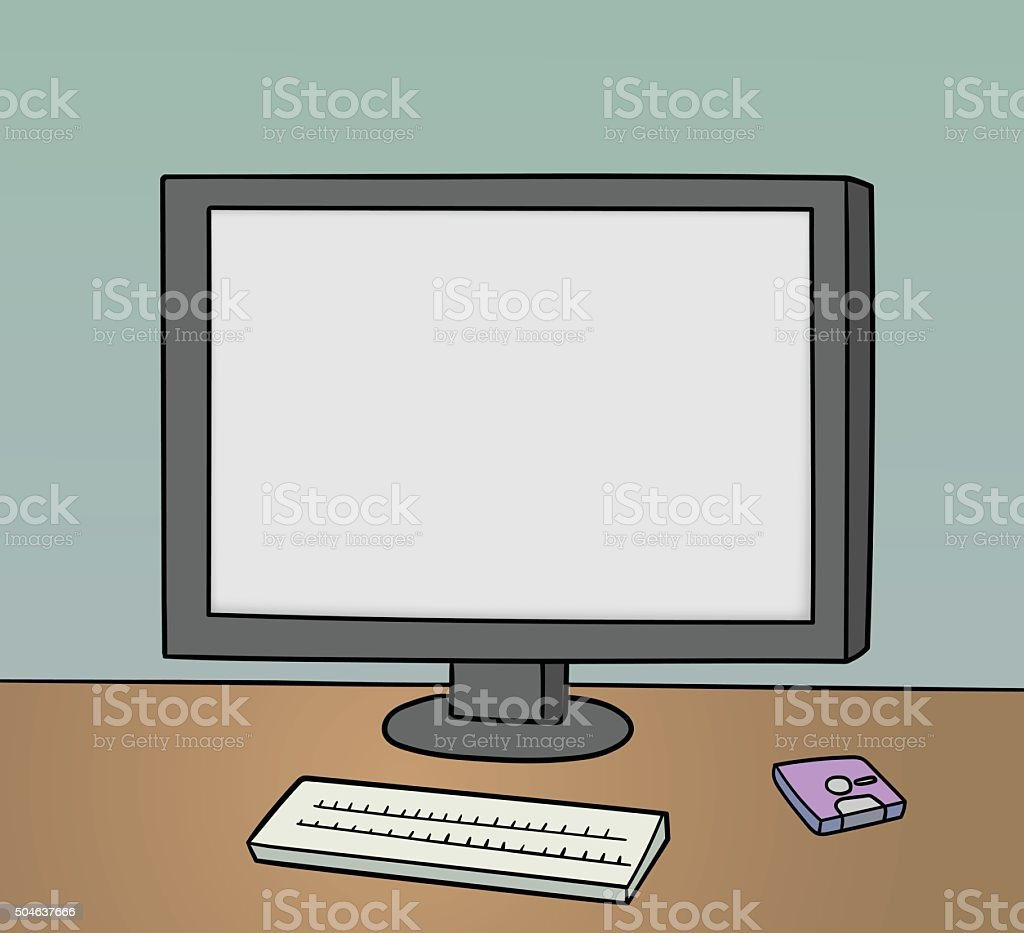 blank monitor background vector art illustration