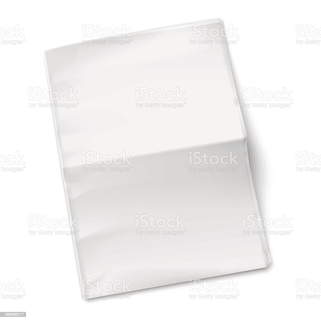 Blank newspaper template on white background. vector art illustration