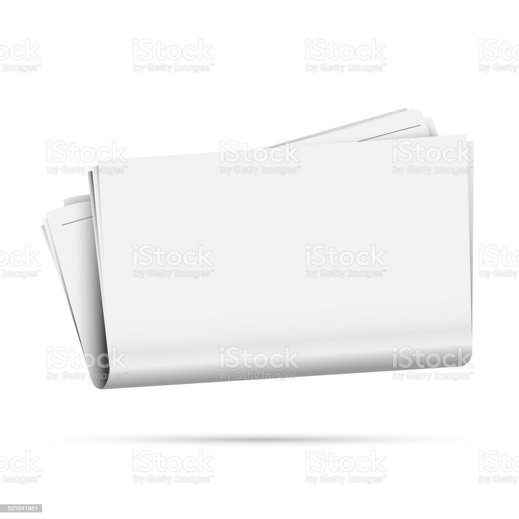 Blank Newspaper vector art illustration