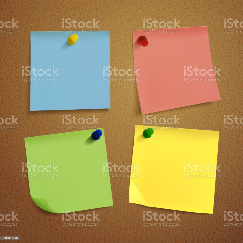 blank note paper set vector art illustration