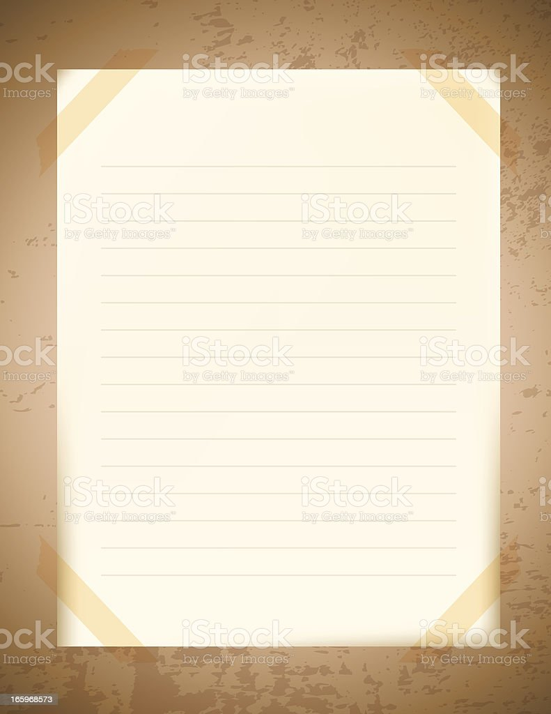 Blank Note Paper royalty-free stock vector art