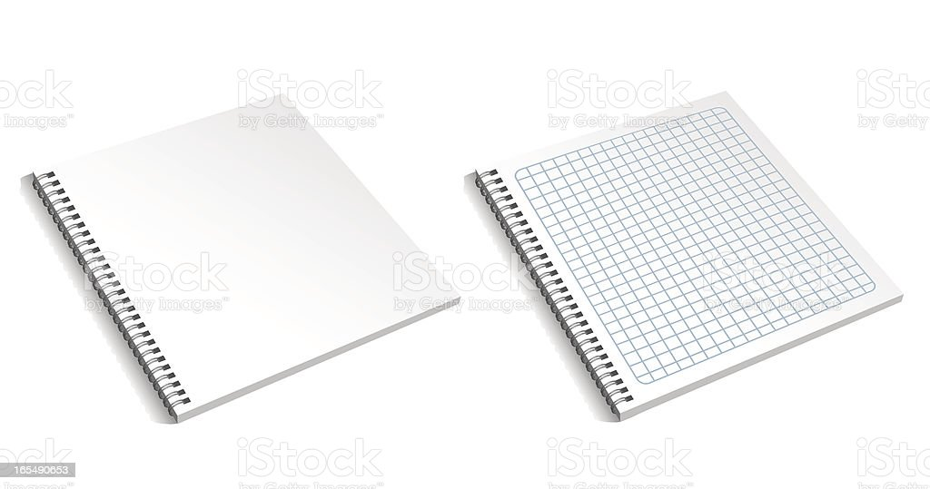 Blank notebook royalty-free stock vector art
