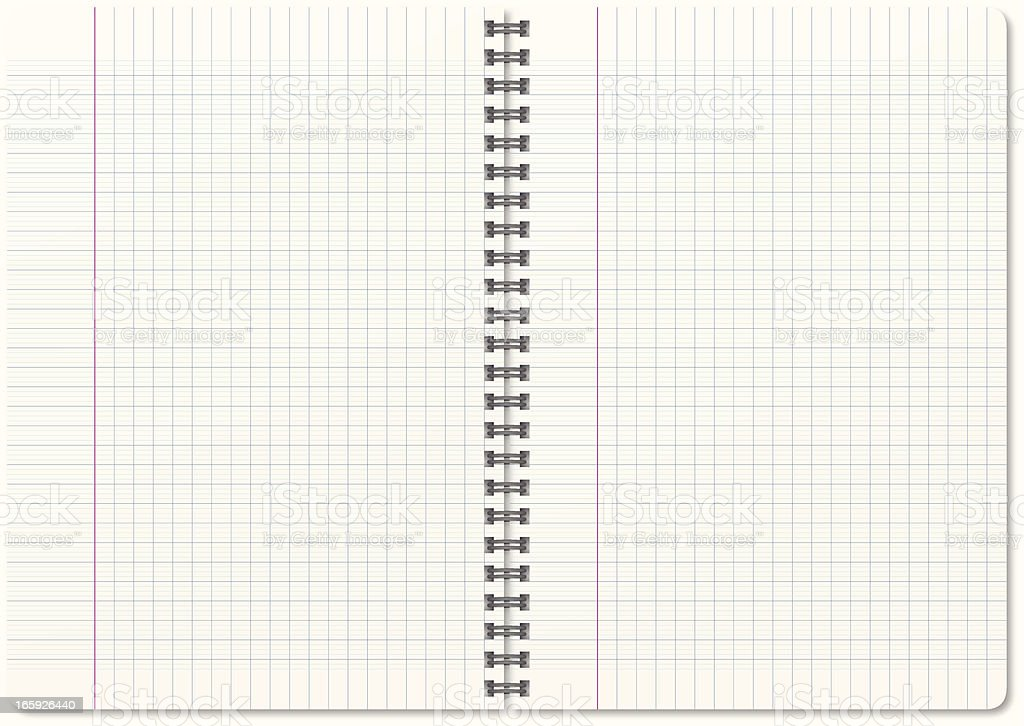 Blank notebook royalty-free stock vector art