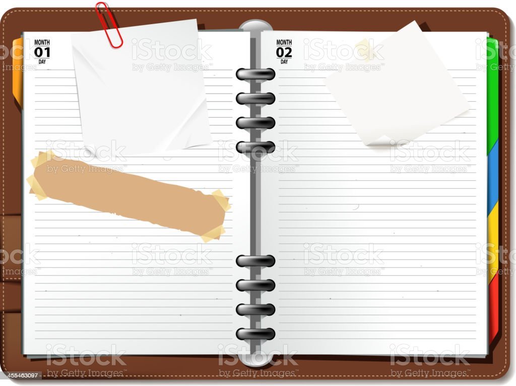 blank notebook vector art illustration