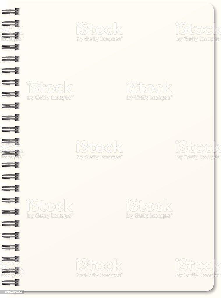 Blank notepad royalty-free stock vector art
