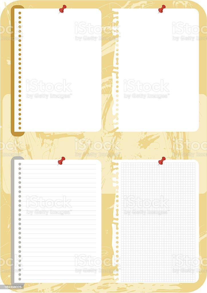 blank notes vector illustration royalty-free stock vector art