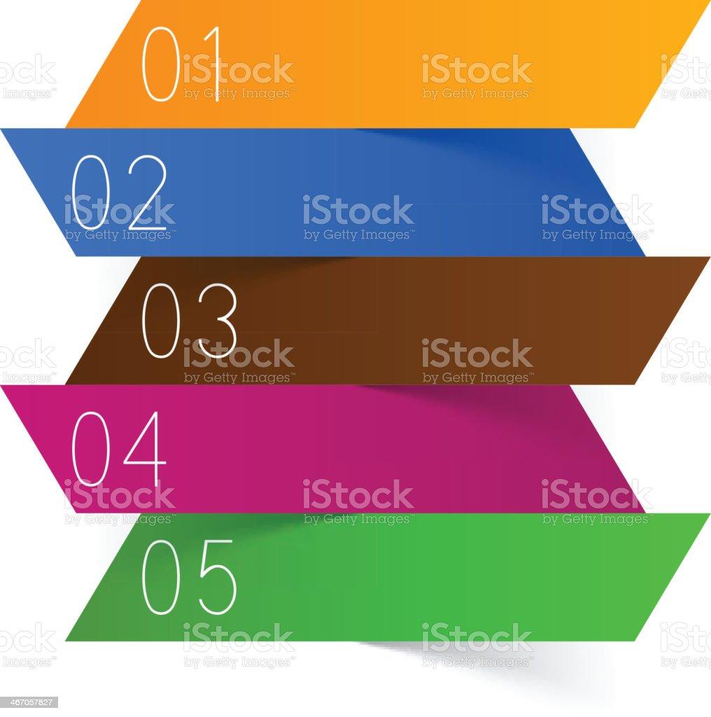 Blank numbered menu royalty-free stock vector art