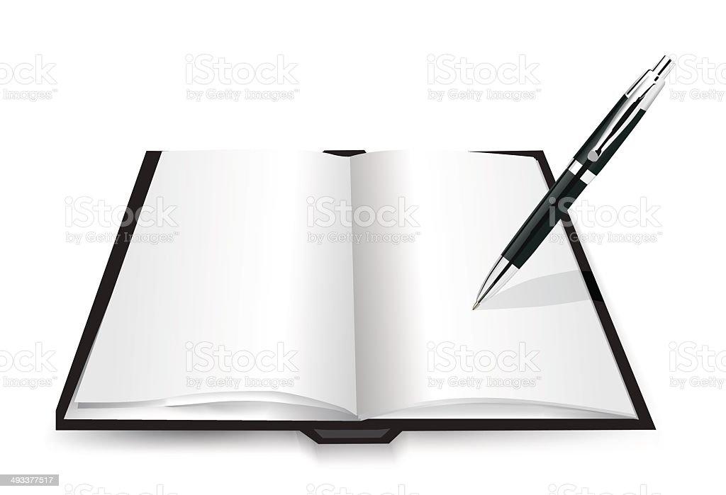 Vide livre ouvert stock vecteur libres de droits libre de droits