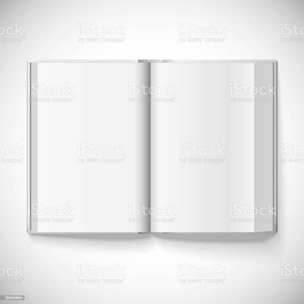 Blank open book, vector illustration royalty-free stock vector art