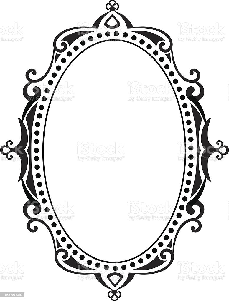blank ornate frame vector art illustration