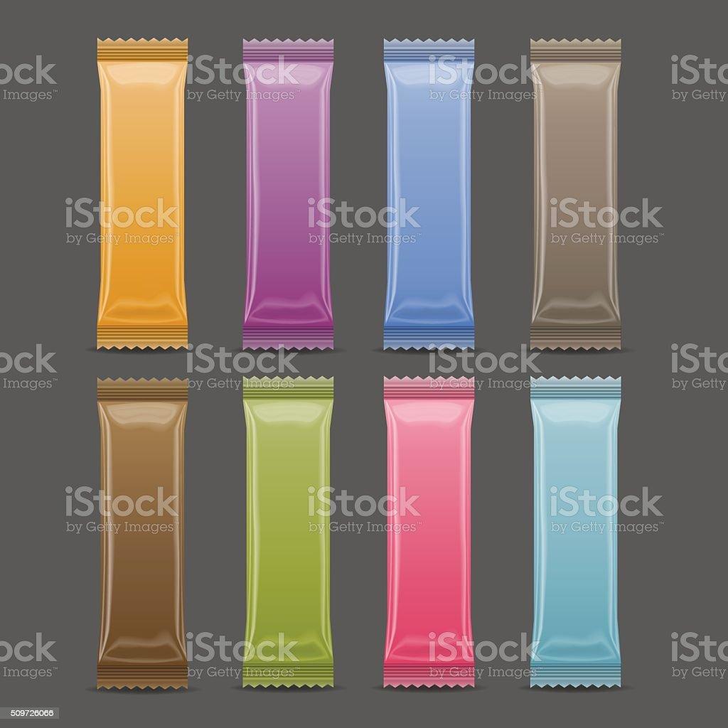 Blank Packaging mock up, 3D, color. vector art illustration