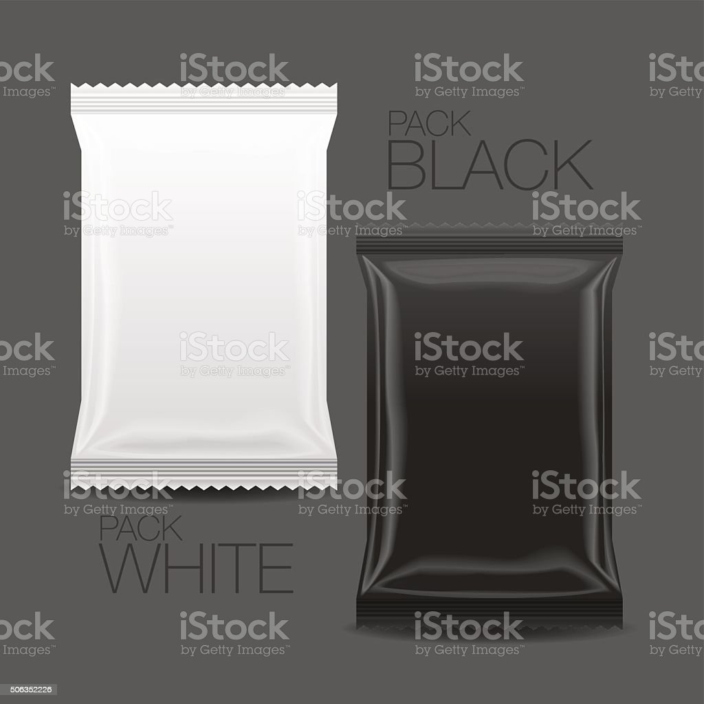 Blank Packaging mock up, 3D vector art illustration